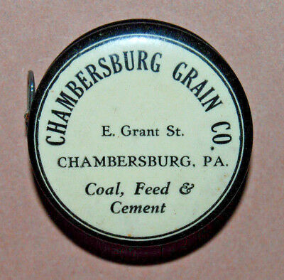 Antique Advertising Chambersburg, Pa Grain Coal Feed Cloth Tape Sewing Measure