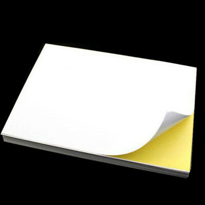 5/10sheets A4 glossy self-adhesive sticker label print paper sheet for office RG