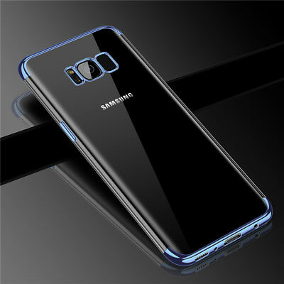For Samsung Galaxy S8 S9 Plus Case Ultra Thin Pattern Rubber Clear Plating Cover