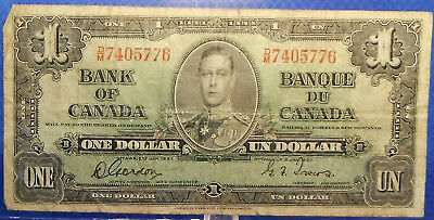 CANADA 1 dollar 1937 Gordon-Towers Prefix D/M #30