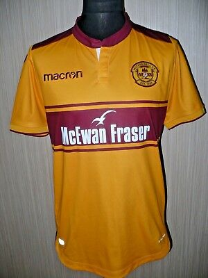 MOTHERWELL F.C MACRON football shirt jersey player issue 2017/18  (L)