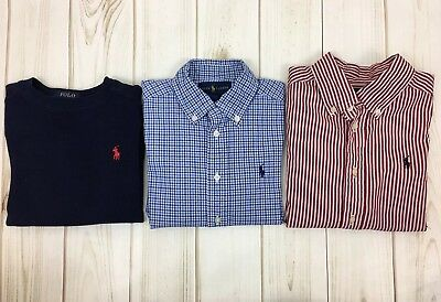 Polo Ralph Lauren Toddler Boy Lot Of 3 LS Shirts. Thermal, 2 Button Down. 4/4T