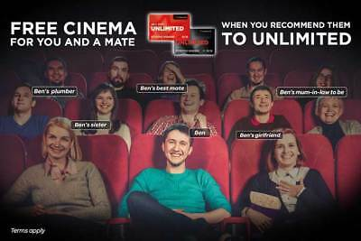 cineworld unlimited refer a friend code - 1 month free