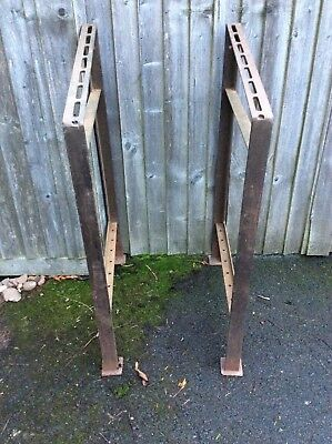 Welded Iron Bench Frames - Salvage-originally Industrial Drawing Board.stand.