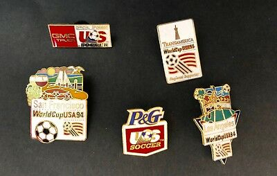 1994 World Cup USA Soccer Five (5) Pins Lot2 Includes LosAngeles ERROR PIN