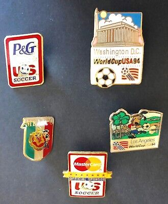 1994 World Cup USA Soccer Five (5) Pins Lot3