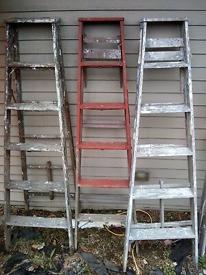 VINTAGE OLD 6' Wooden Ladder - many to choose from inc. 6 ft. Step