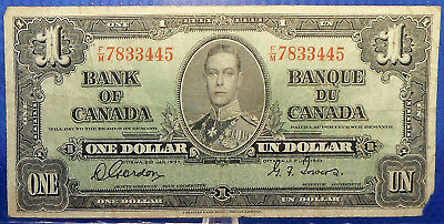 CANADA 1 dollar 1937 Gordon-Towers Prefix F/M #44