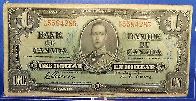 CANADA 1 dollar 1937 Gordon-Towers Prefix F/M #46