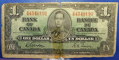 CANADA 1 dollar 1937 Gordon-Towers Prefix C/M #48