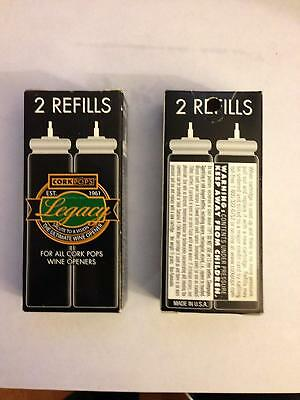 2 Boxes of Corkpops Wine Opener Refill Cartriges (2 - 15 Gram Screwless Wine Ope