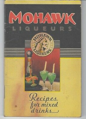 1935 Mohawk Liqueurs Mixing Better Drinks Cocktail Recipes Booklet Ads Bar Guide