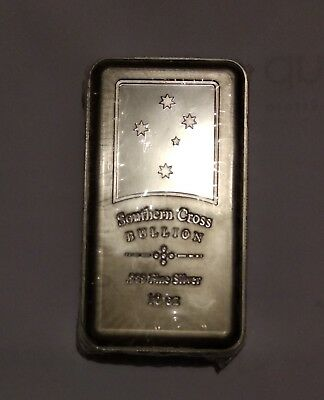 10 oz Southern Cross Minted Silver Bar (999 fine silver)