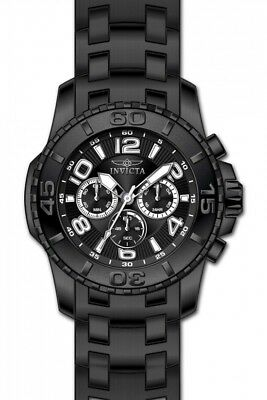 Invicta Pro Diver Chronograph Black Dial Black Ion-plated Men's Watch 15025