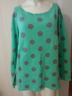 Polka Dot Cardigan Sweater Womens Large A New Day Target Blackwhite