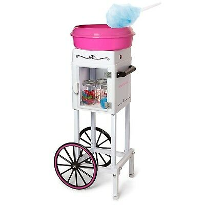 Commercial Nostalgia Cotton Candy Machine Maker Cart Electric Floss Carnival New