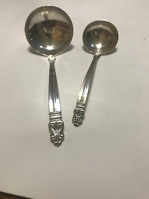 Two Sterling Silver Ladles One Small One Large By Royal Danish -International