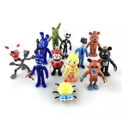 New Five Nights at Freddy's FNAF Game Action Figures PVC Toy 12PCS/set Doll