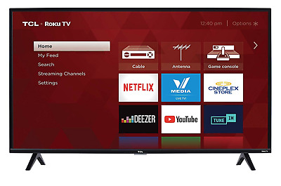 Smart LED TV 1080p HD Picture Clarity Roku TCL 40S325 40Inch 2019 Enjoy Watching