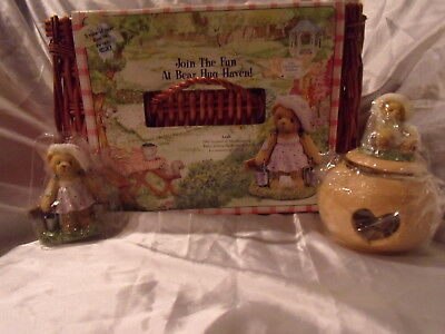 Cherished Teddies 2003 Membership Pack - Leah with basket CT109 and 111601- RARE