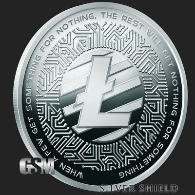 2018 1 oz Proof Crypto 3 - LiteCoin  RARE - low COA 143 - SILVER SHIELD - SSG