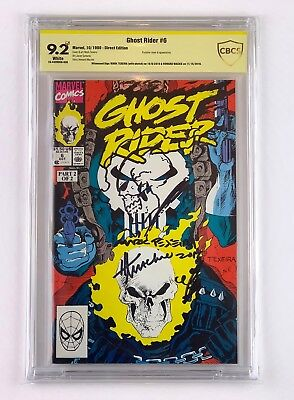 Ghost Rider #6 - Punisher Appearance - CBCS 9.2 NM- like CGC signed signature
