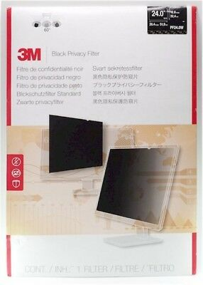 "3M Privacy Filter for Widescreen Desktop LCD Monitor 24.0"" PF24.0W - USED"