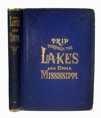 1868 Great Lakes Mississippi River Niagara Falls Railroad Steamboat Travel Guide