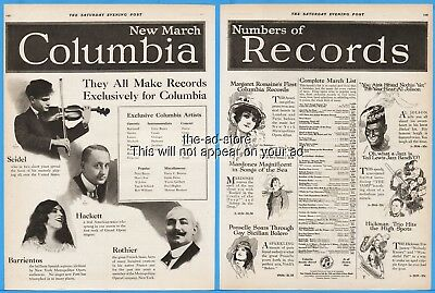 1920 Al Jolson Black Face Ted Lewis Margaret Romaine Columbia Records Ad