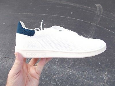 buy popular f140a 5ed42 ADIDAS STAN SMITH ORIGINALS WHITE KNIT & BLUE S75148 men's size 13 NEW IN  BOX
