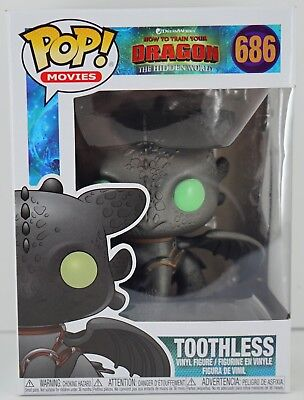 Funko POP! Movies: How to Train Your Dragon 3 - Toothless #686 Ready to ship.