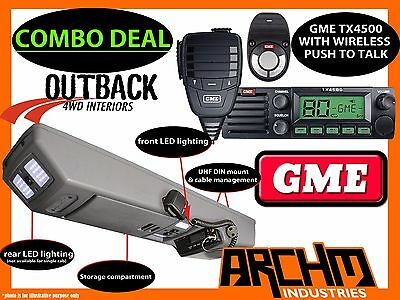 Mazda Bt50 2007-On Overhead Roof Console & Gme Tx4500Ws Uhf Radio Bt-50