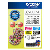 Brother LC-233 Photo Value Pack Genuine (LC-233PVP)