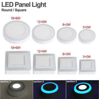 3-modes dual color led surface mounted panel light corridor room hall lamp 0F25