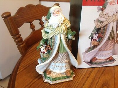 "Fitz & Floyd Gregorian Santa, Musical, 9"" great condition"