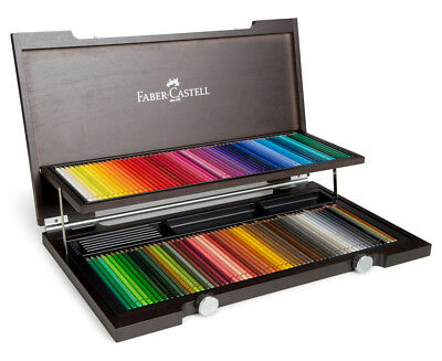 *BRAND NEW* Faber Castell 120 Polychromos artist colour pencil set in Wood Case