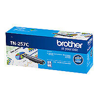 Brother TN-257C Cyan High Yield Toner Cartridge Genuine - 2,300 pages (TN-257C)