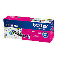 Brother TN-257M Magenta High Yield Toner Cartridge Genuine - 2,300 pages (TN-257