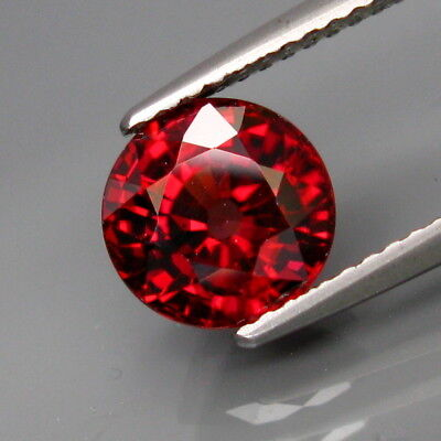 2.94Ct.Ravishing Color&Eye Clean! Natural Rich Pink Zircon Tanzania Round 7.8mm.