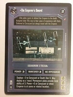Star Wars Ccg The Emperor's Sword Death Star Ii Ds2 Rare Decipher Card Game