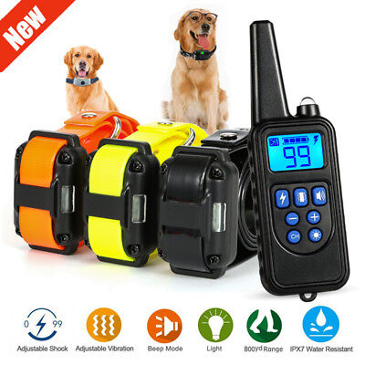 Waterproof 875 Yard Pet Trainer Dog Training Shock E-Collar Rechargeable Remote
