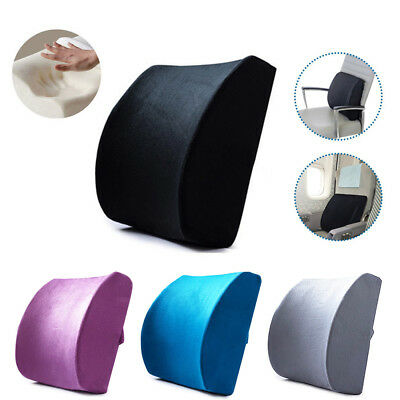 Memory Foam Lumbar Support Pillow Back Cushion Home Office Car Seat Pillows AU