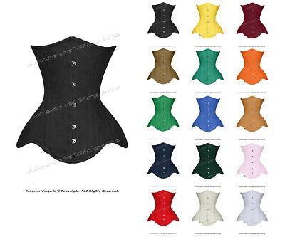 Heavy Duty 26 Double Steel Boned Waist Training Cotton Underbust Corset #8596-B