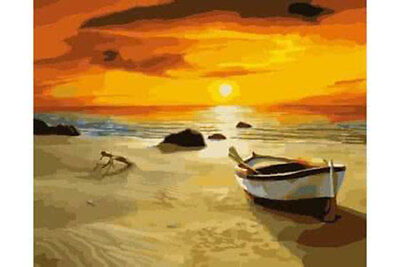 LMOP576 charming seascape ocean &boat hand painted art oil painting on canvas