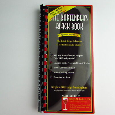 The Bartenders Black Book 9th Edition Stephen Kittredge Cunningham Spiral Bound