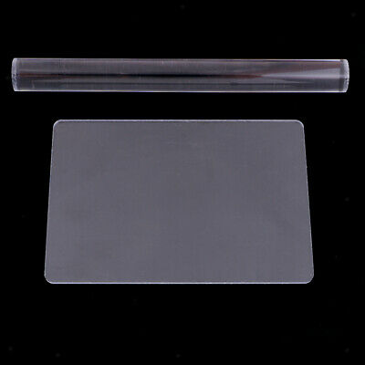 2 Pcs Acrylic Clay Roller with Sheet Backing Board for Shaping and Sculpting