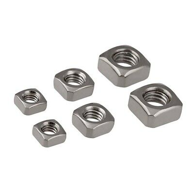 A2 304 Stainless Steel Square Nuts Metal Nut M3 M4 M5 M6 M8 M10 3MM 4MM 5MM 6MM