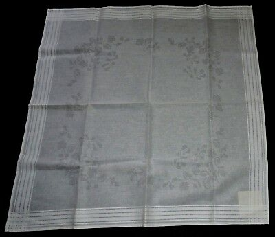 Snow White Stamped Tablecloth Traced Crewel CrossStitch Flower Bouquet Embroider