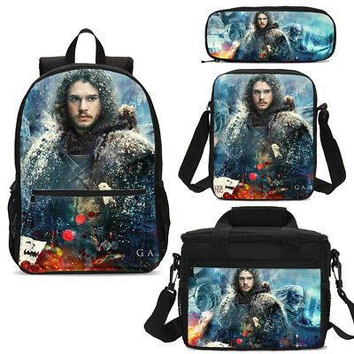 Game of Thrones Student Teenager Schoolbag Lunch Tote Backpack Pen Bag Wholesale