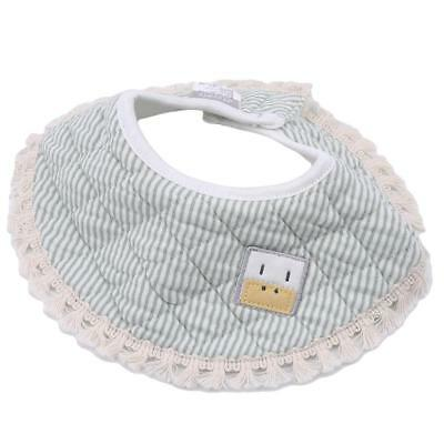Infant Kids Baby bibs 360° Rotation Feeding Saliva Towel Dribble Cotton Bib FW